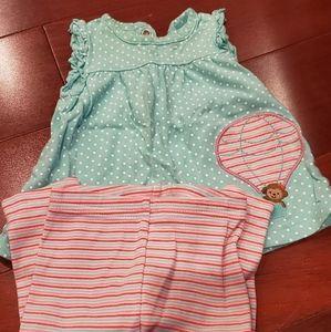 0-3 month perfect condition dress/ pants set